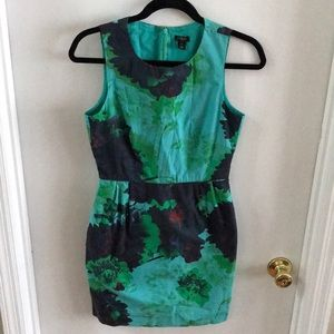 Sleeveless J Crew floral dress size 2
